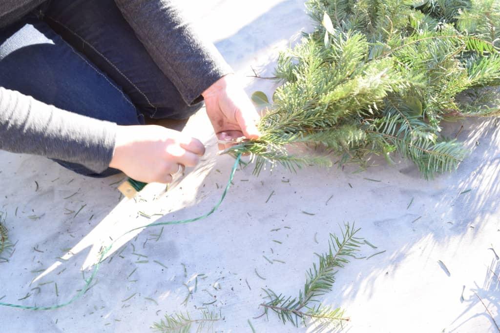 DIY live garland