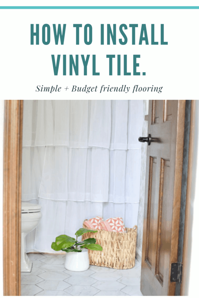 How to install groutable vinyl tile.