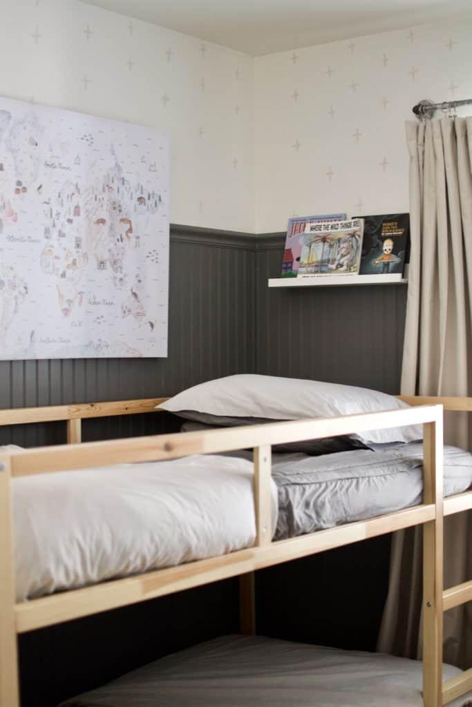 Kura bunk beds in little boys room