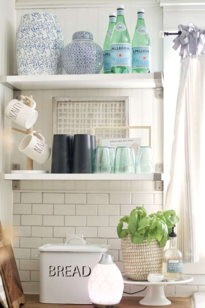 Kitchen Open Shelving Styling Tips.