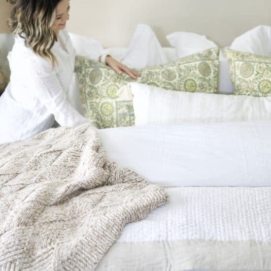 White Master Bedroom Tips + Tricks.