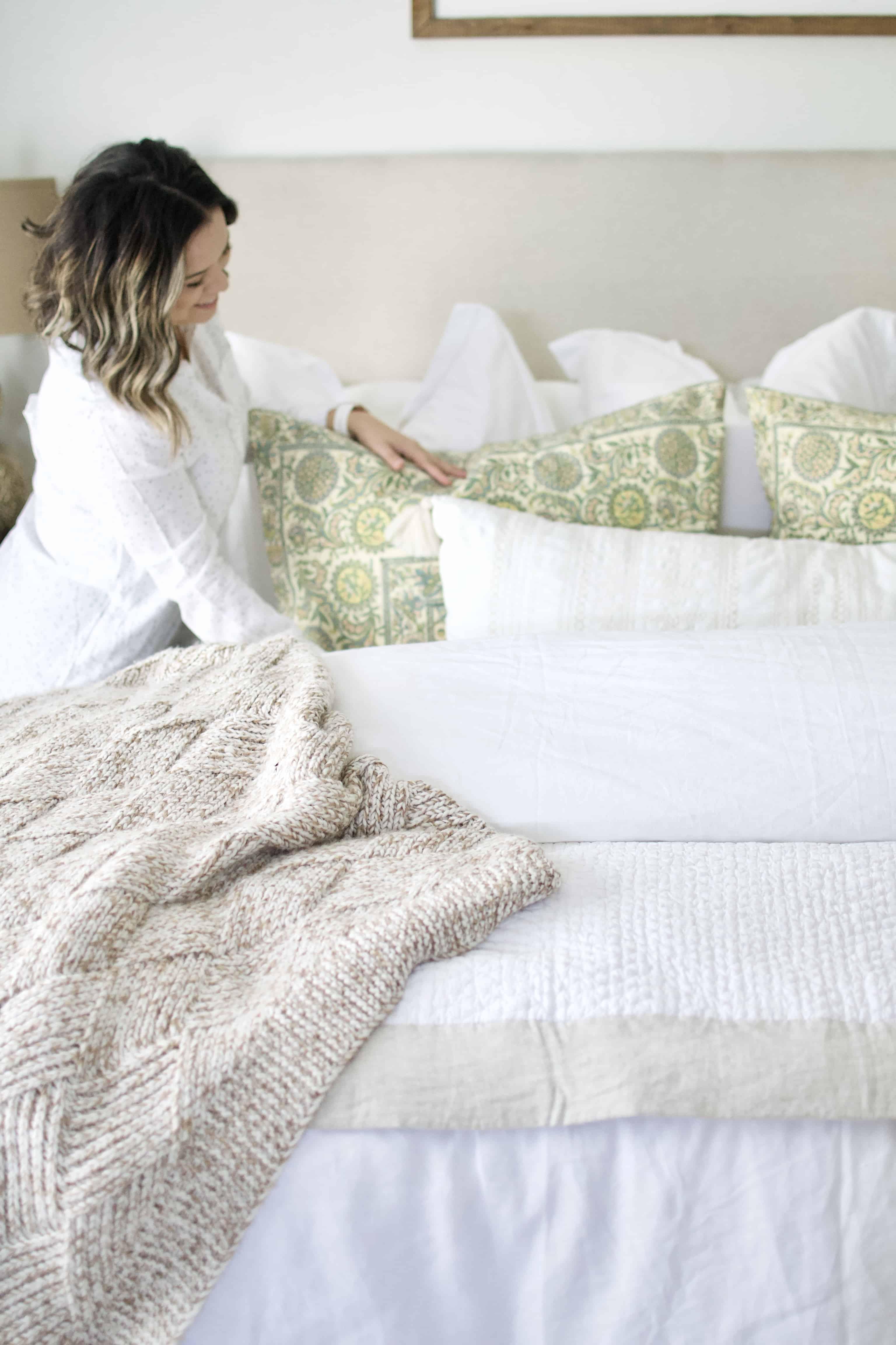 White Master Bedroom Tips + Tricks.