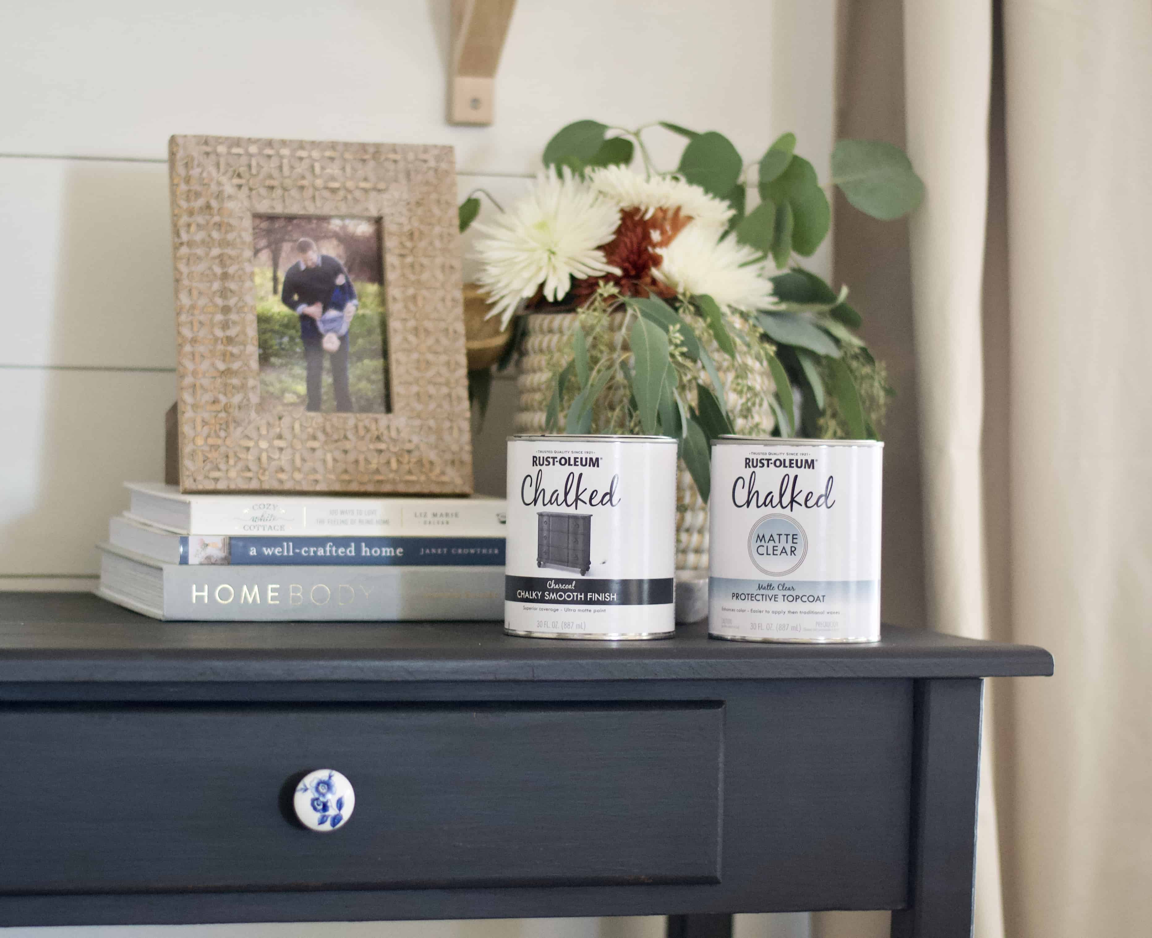 how to use Rustoleum chalk paint and topcoat