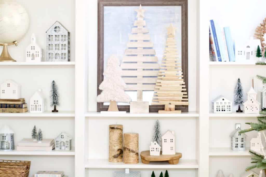white simple christmas village