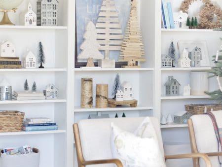 Neutral + Simple Christmas Village