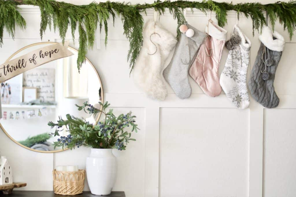 where to hang your stockings when you don't have a fireplace