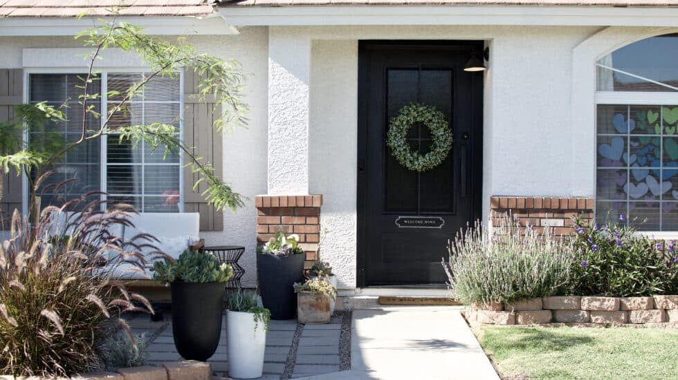 DIY Paver front porch inspiration