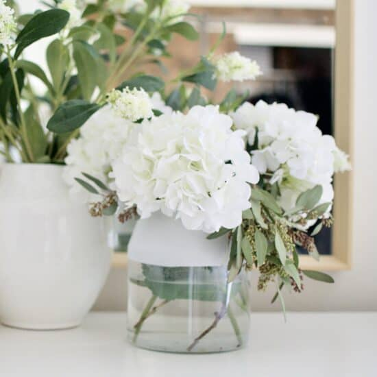 Home Decor Hack Color Dipped glass vase