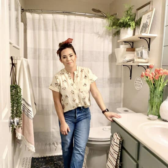 Budget Friendly Bathroom Makeover. The Collected House.
